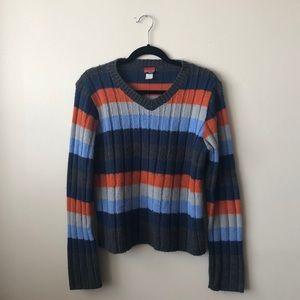 COZY striped sweater- M - vintage 90s